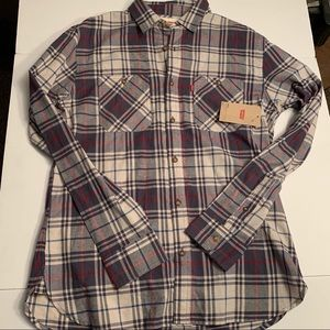 Levi's NWT button up plaid shirt size small